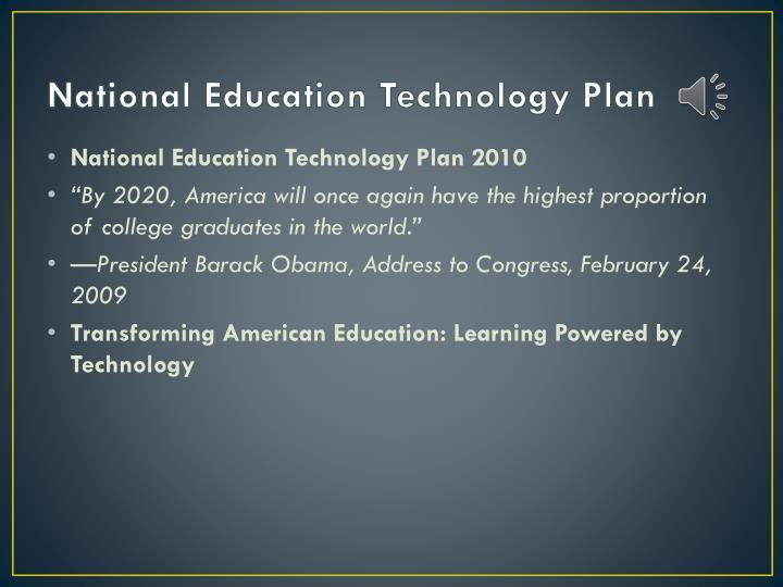National Education Technology Plan