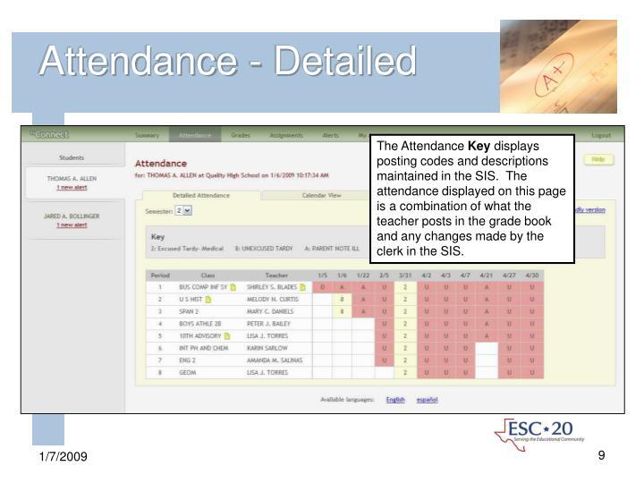 Attendance - Detailed