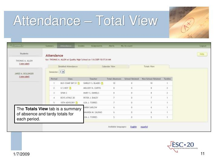 Attendance – Total View