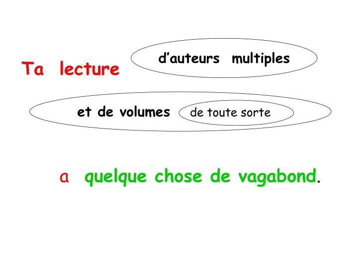 Ta  lecture