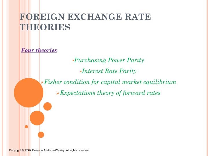 foreign exchange rate theories n.