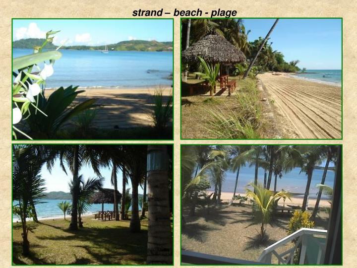 Strand – beach - plage