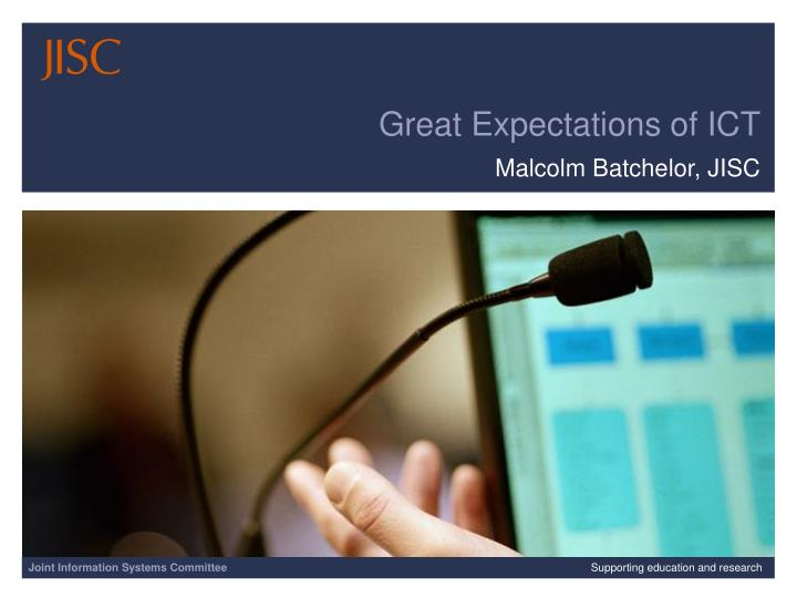 great expectations of ict n.