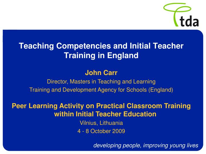 PPT - Teaching Competencies and Initial Teacher Training in