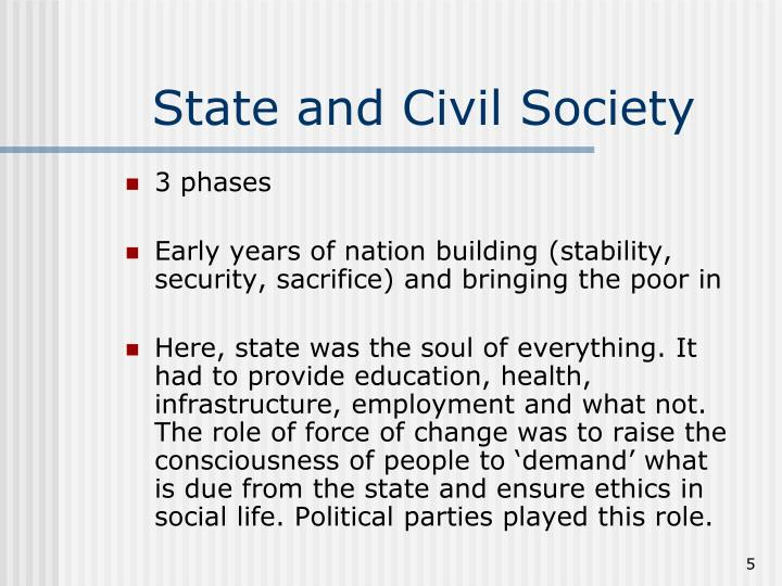 State and Civil Society