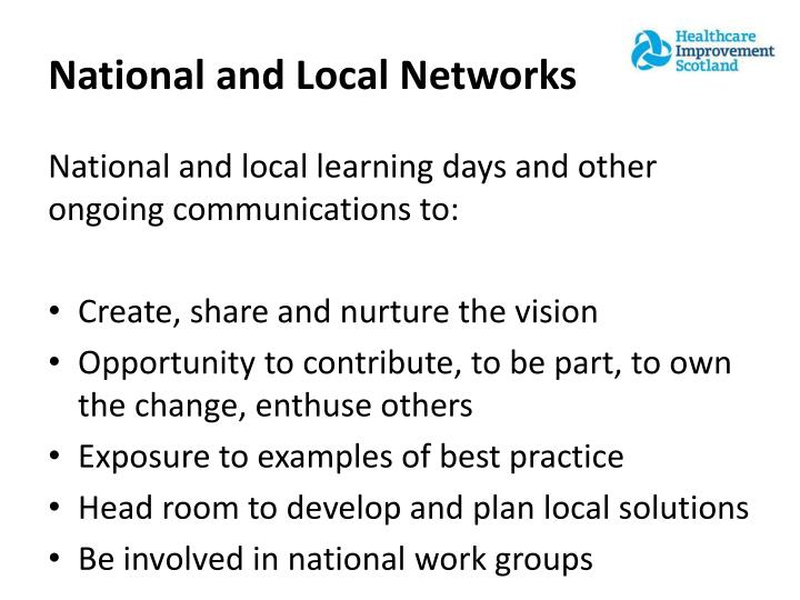 National and Local Networks
