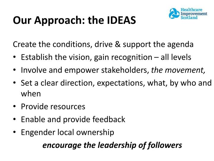 Our Approach: the IDEAS