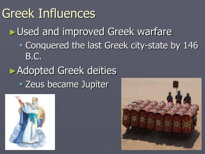 """greek influence on rome essay Goods and cultural influences flowed from egypt to rome through alexandria, which diodorus of sicily described as """"the first city of the civilized world"""" in the first century bc its great library and community of writers, philosophers, and scientists were known throughout the ancient world."""