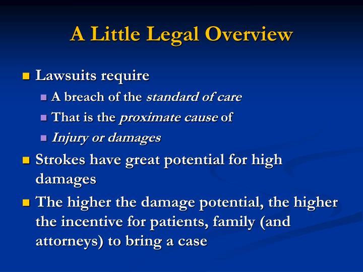 A Little Legal Overview