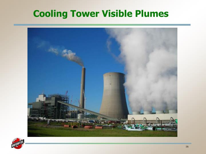 Cooling Tower Visible Plumes