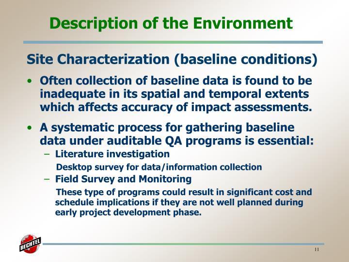 Description of the Environment