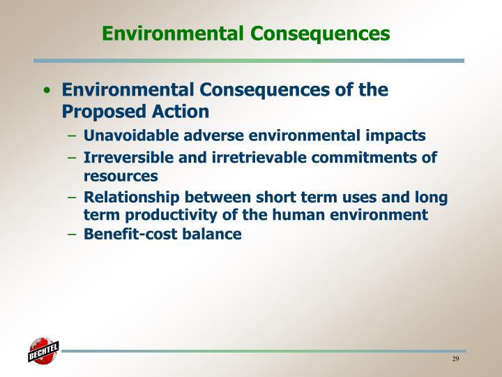 Environmental Consequences