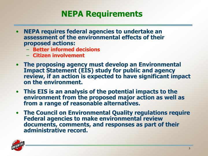 NEPA Requirements