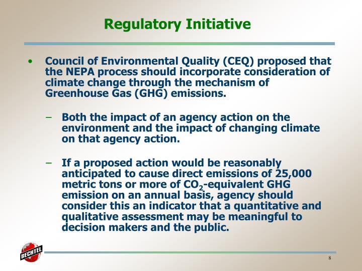 Regulatory Initiative