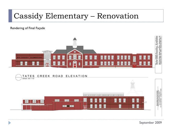 Cassidy elementary renovation1