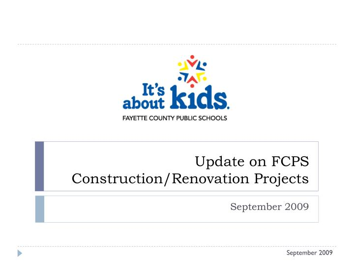 Update on fcps construction renovation projects