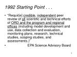1992 starting point