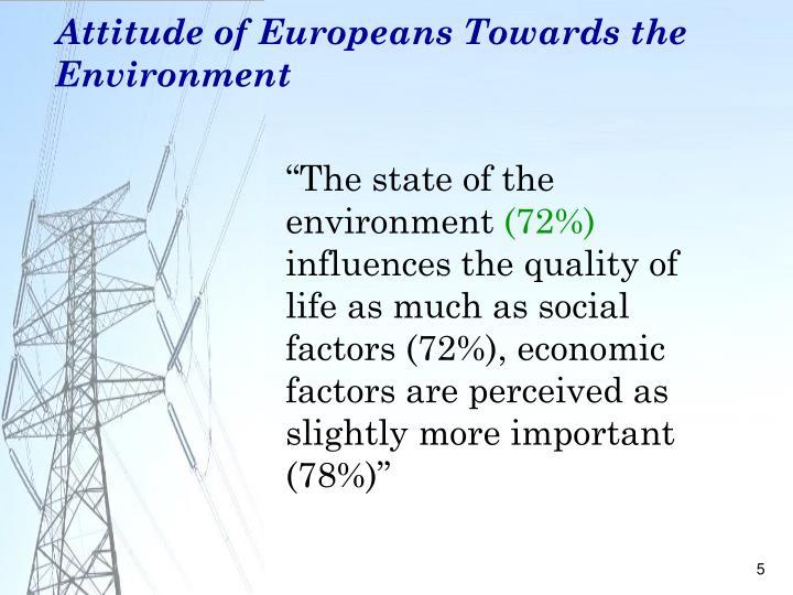 Attitude of Europeans Towards the Environment
