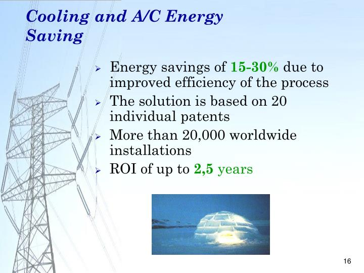 Cooling and A/C Energy Saving