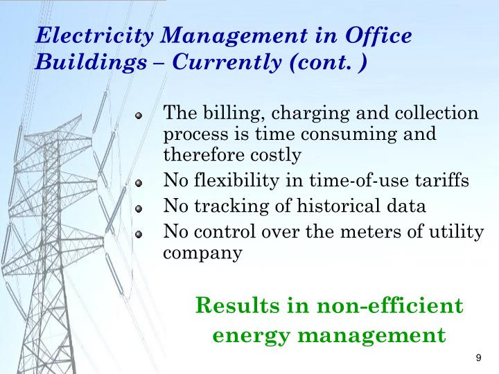 Electricity Management in Office Buildings