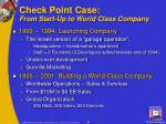 check point case from start up to world class company