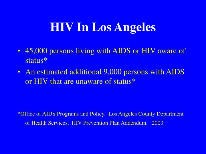 HIV In Los Angeles