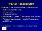 ppe for hospital staff
