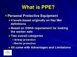 what is ppe