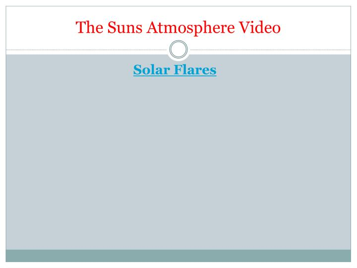The Suns Atmosphere Video