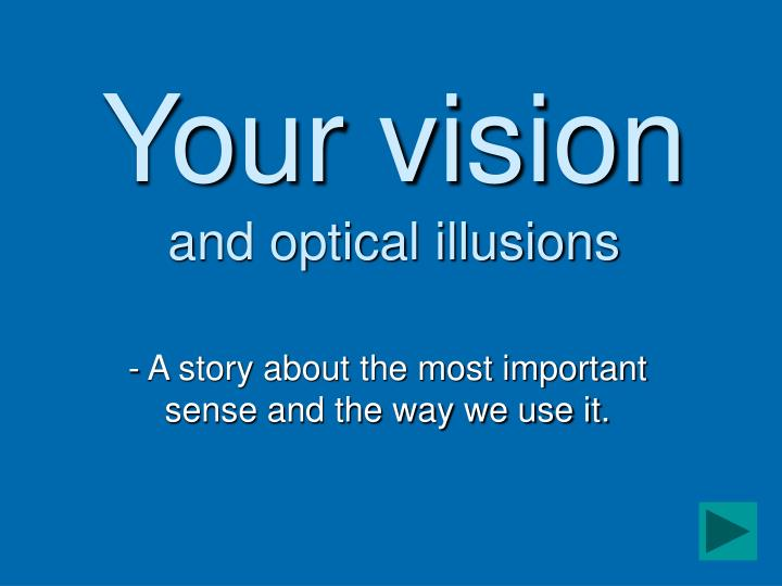 your vision and optical illusions n.