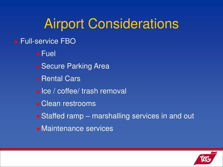 Airport Considerations