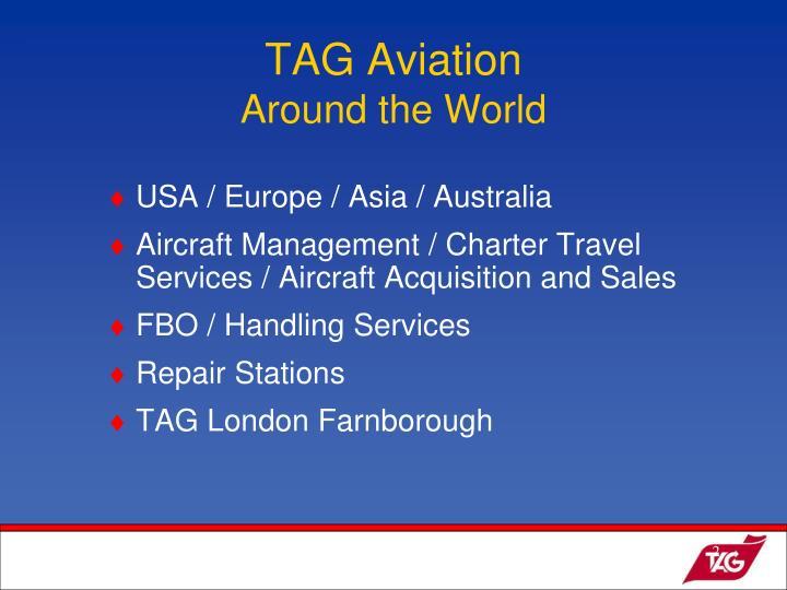 Tag aviation around the world