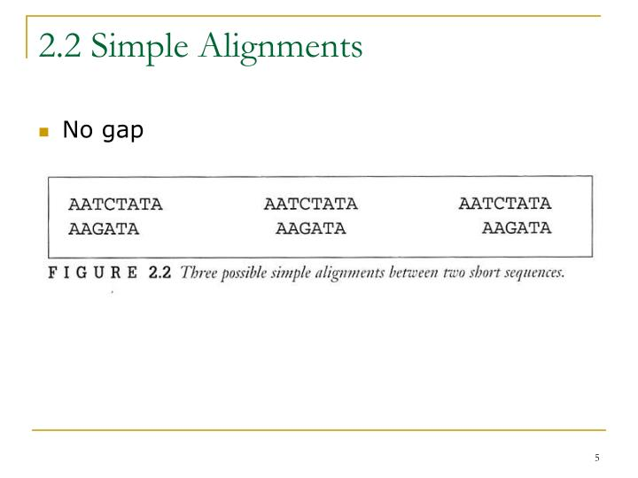 2.2 Simple Alignments