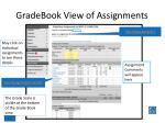 gradebook view of assignments