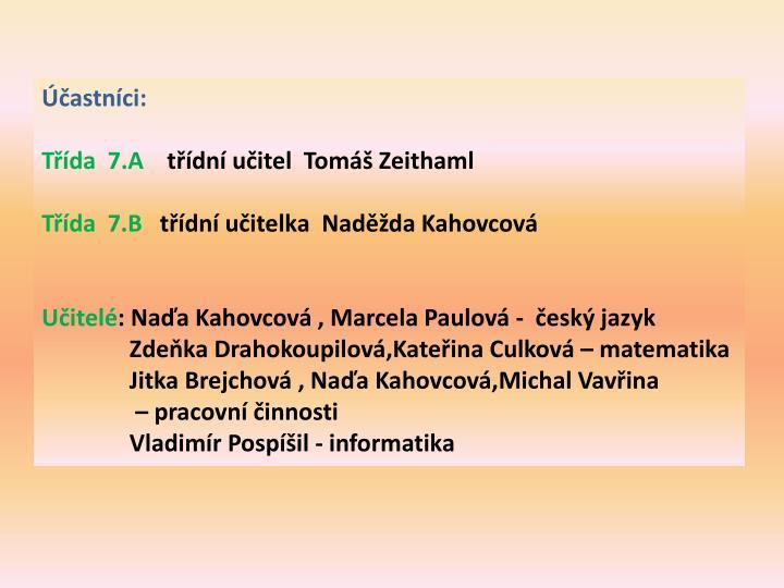 Účastníci: