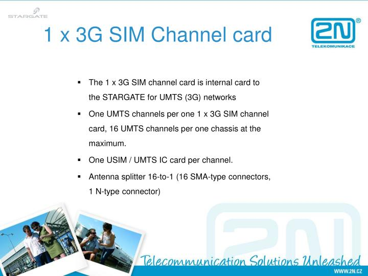 1 x 3g sim channel card
