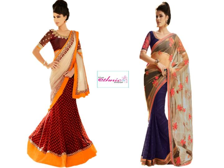 Buy new arrivals wedding sarees online at the ethnic wear