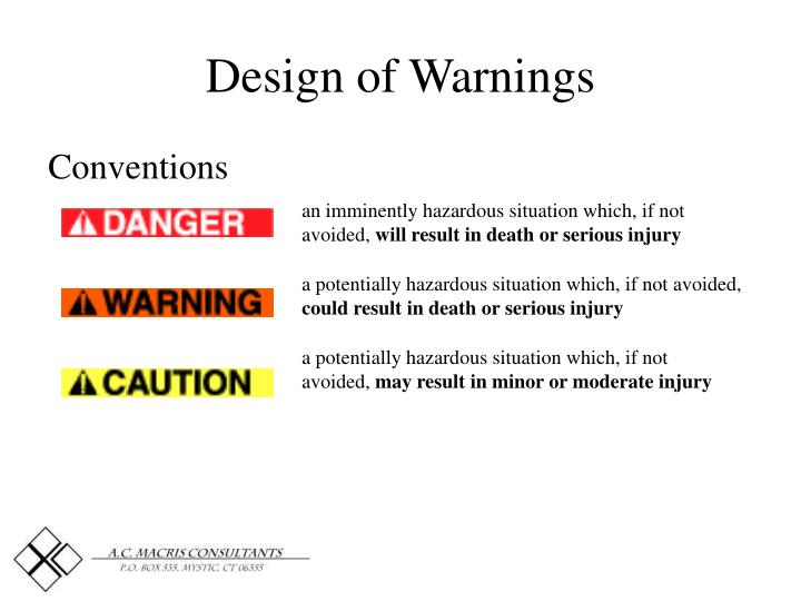 Design of Warnings