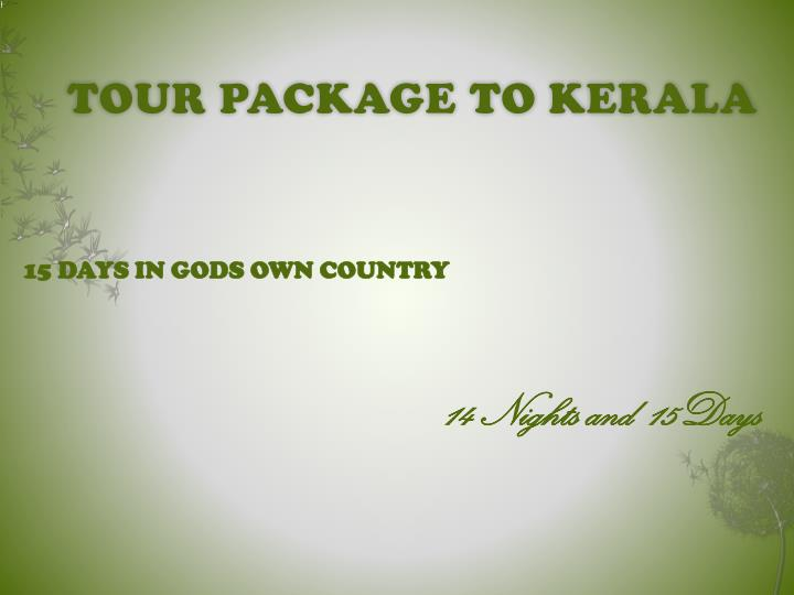 tour package to kerala n.