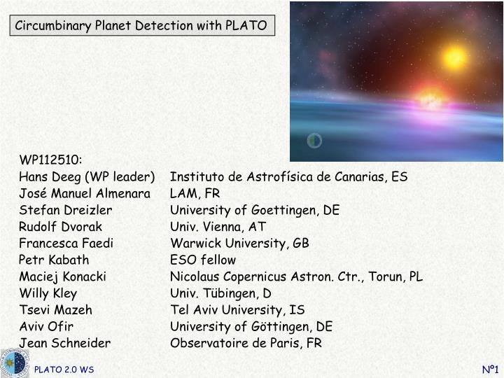 Circumbinary planet detection with plato