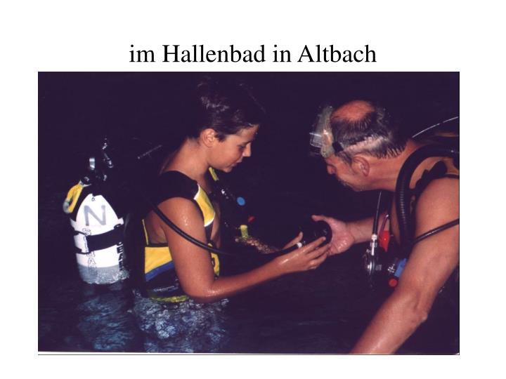 im Hallenbad in Altbach
