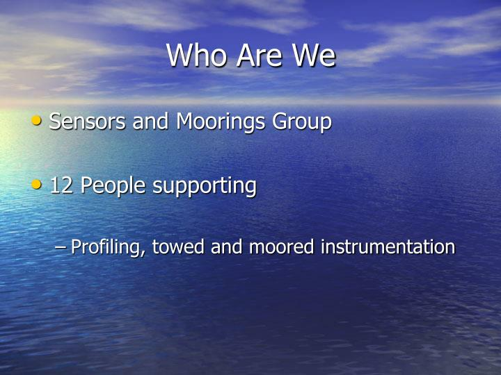 who are we n.