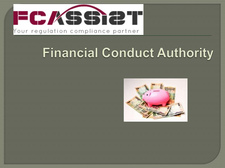 financial conduct authority n.