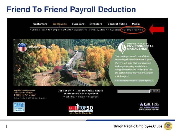 PPT - Friend To Friend Payroll Deduction PowerPoint Presentation