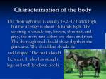 characterization of the body