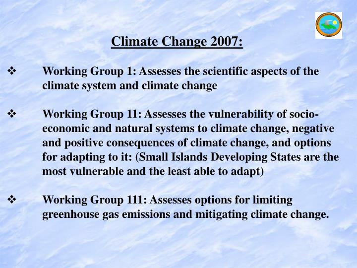 Climate Change 2007: