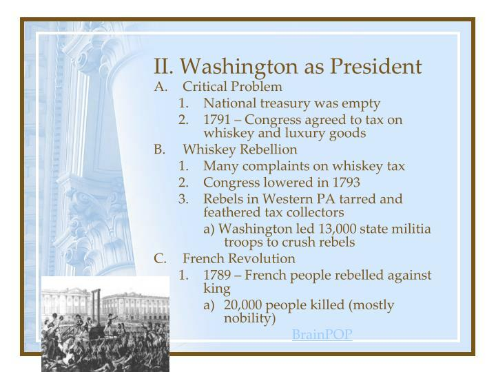 Ii washington as president