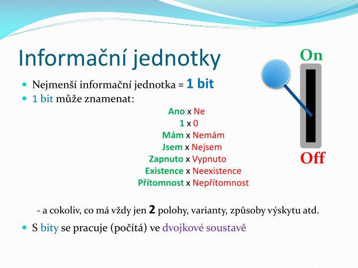 Informační jednotky