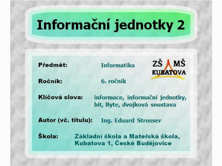 Co je to informace