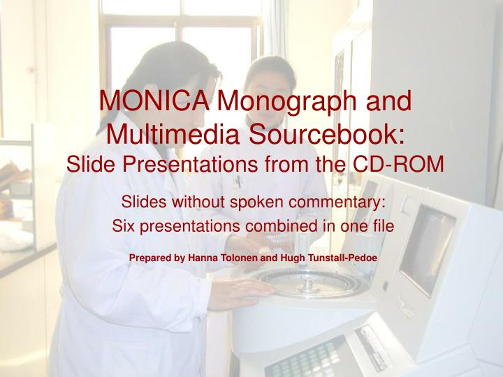 monica monograph and multimedia sourcebook slide presentations from the cd rom n.